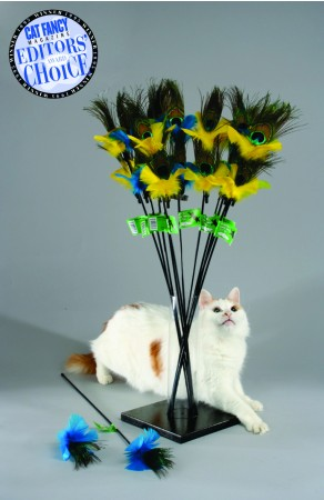 VEE CAT TOYS - PEACOCK FEATHER CAT TOY