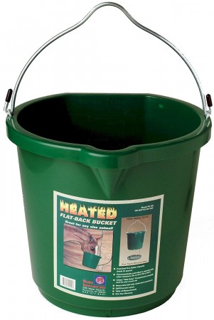 FARM INNOVATORS 5-GALLON FLAT-BACK HEATED BUCKET