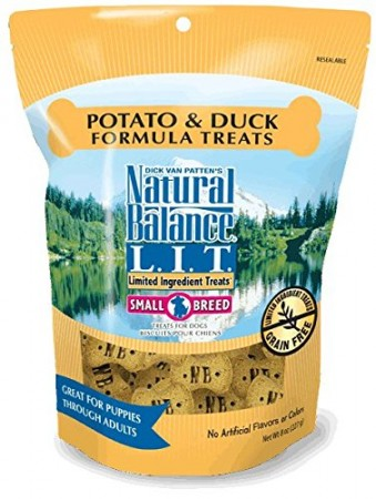 NATURAL BALANCE L.I.D. - SM BREED DUCK & POTATO 8 OZ TREATS