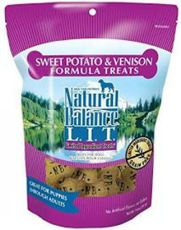 NATURAL BALANCE L.I.D. - VENISON & SW POTATO 14 OZ TREATS