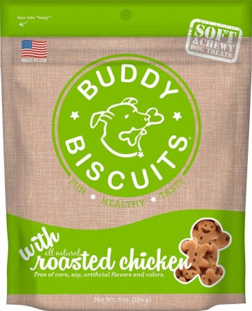 CLOUD STAR 6OZ SOFT & CHEWY ROASTED CHICKEN TREATS