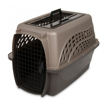 PETMATE TOP LOAD KENNEL – PEARL TAN - MEDIUM