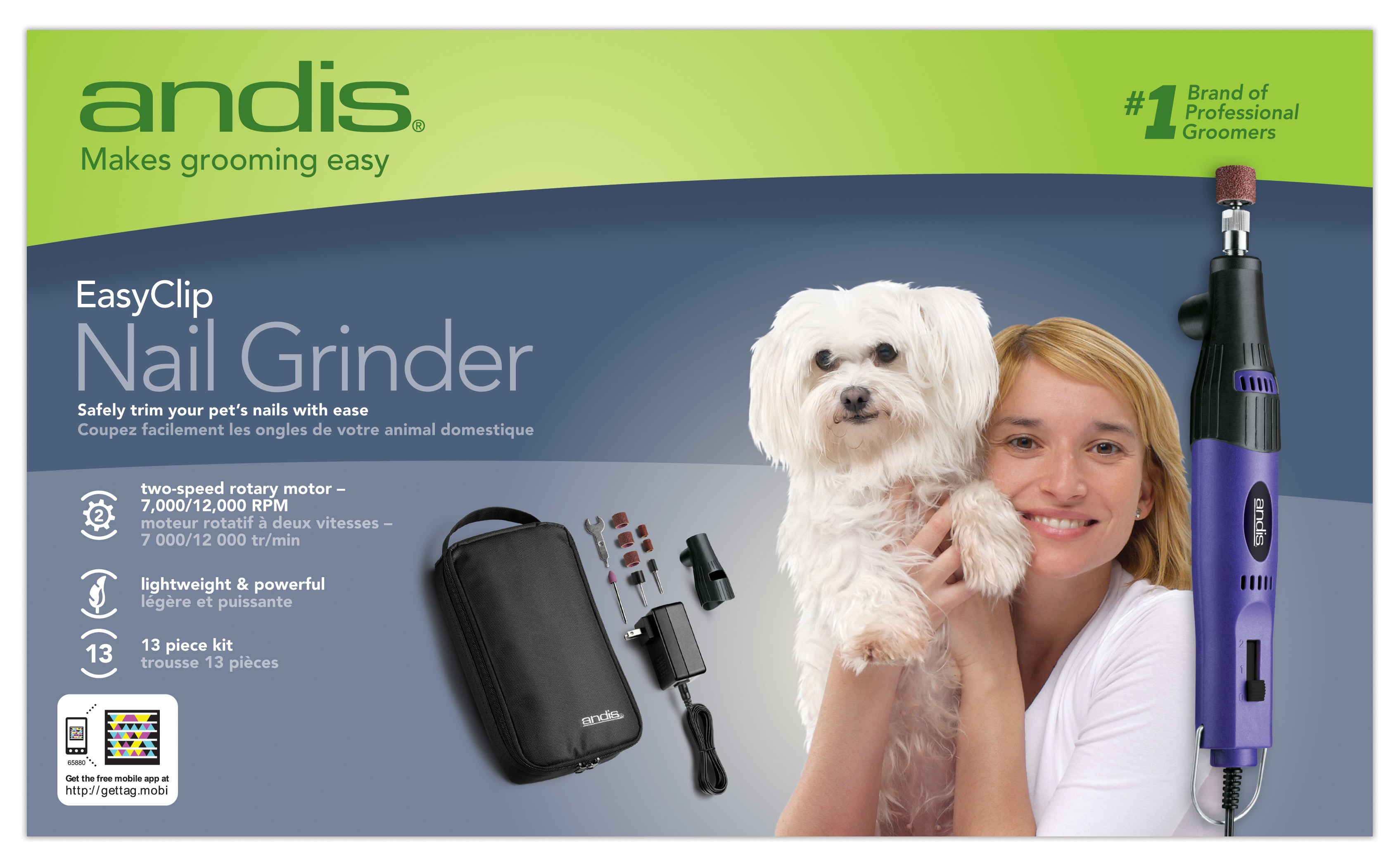 ANDIS PET NAIL GRINDER - Dog Grooming Supplies - DOGS