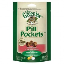 GREENIES PILL POCKETS FOR CATS, SALMON - 1.6OZ