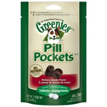 GREENIES PILL POCKETS FOR DOGS, HICKORY SMOKE - TABLET 3.2OZ