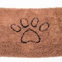 MEDIUM DIRTY DOG DOORMAT BROWN 31X20