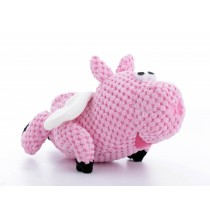 GoDog TOYS – CHECKERS FUN CHARACTERS - PINK FLYING PIG