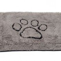 LARGE DIRTY DOG DOORMAT GREY 35X26