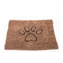 LARGE DIRTY DOG DOORMAT BROWN 35X26