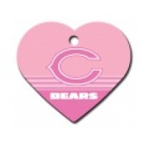 PET TAG – LARGE HEART PINK – NFL – BEARS