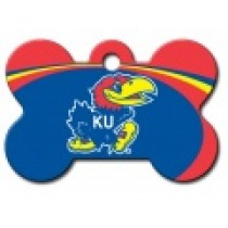 PET TAG – LARGE BONE – U OF KANSAS – JAYHAWK