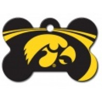 PET TAG – LARGE BONE – U OF IOWA – HAWKEYES