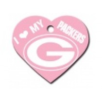 PET TAG – LARGE HEART PINK – NFL - PACKERS