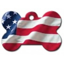PET TAG – LARGE BONE – USA FLAG