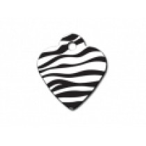 PET TAG – SMALL HEART– ZEBRA