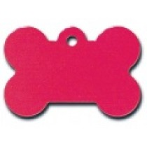 PET TAG – TWO SIDED PLAIN – LARGE BONE RED