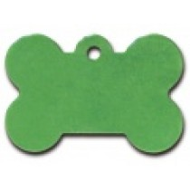 PET TAG – TWO SIDED PLAIN – LARGE BONE LIGHT GREEN