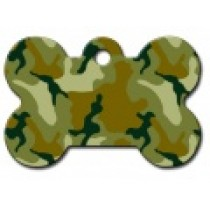 PET TAG – LARGE BONE – GREEN CAMO
