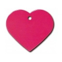 PET TAG – TWO SIDED PLAIN – LARGE HEART RED
