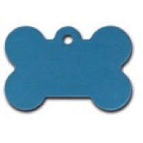 PET TAG – TWO SIDED PLAIN – LARGE BONE BLUE