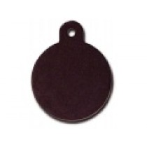 PET TAG – TWO SIDED PLAIN – LARGE CIRCLE BLACK