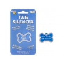PET TAG SILENCER, GLOW-IN-THE-DARK – LARGE BONE
