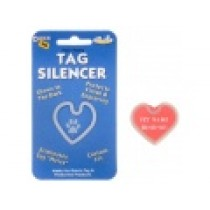 PET TAG SILENCER, GLOW-IN-THE-DARK – LARGE HEART