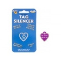 PET TAG SILENCER, GLOW-IN-THE-DARK – SMALL HEART