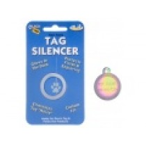 PET TAG SILENCER, GLOW-IN-THE-DARK – LARGE CIRCLE