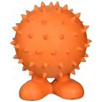 JW® SPIKY CUZ MEDIUM RUBBER DOG TOY (COLORS VARY)