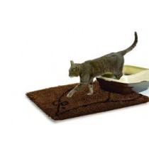 LARGE CAT MAT BROWN 35X26