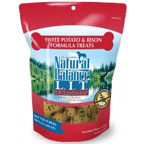 NATURAL BALANCE L.I.D. - SW POTATO & BISON 14 OZ TREATS