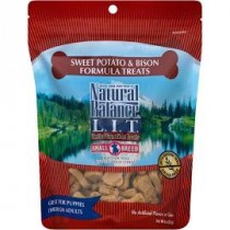 NATURAL BALANCE L.I.D. - SM BREED SW POTATO & BISON 8 OZ TREATS
