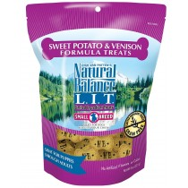 NATURAL BALANCE L.I.D. - SM BREED VENISON & SW POTATO 8 OZ TREATS