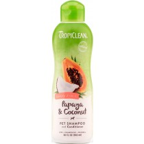 TROPICLEAN PAPAYA PLUS SHAMPOO & COND. 20 OZ