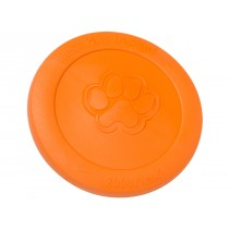 "WEST PAW ZISC DOG TOY - LARGE 8.5"" - TANGERINE COLOR"